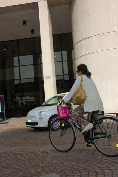 """Partecipante all'iniziativa """"""""Vengo al lavoro con la bici"""""""