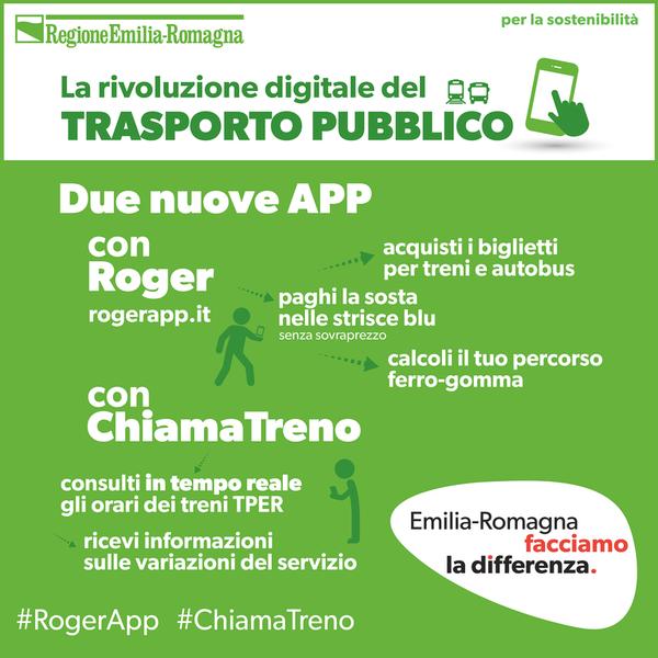Roger app e ChiamaTreno