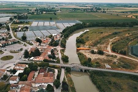 Idrovia ferrarese, il punto sull'avanzamento dei lavori. Sopralluogo di Bonaccini ai cantieri di Ferrara e Final di Rero di Tresignana