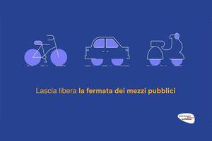 Lascia libera la fermata dei mezzi pubblici